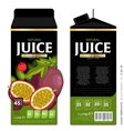 Template Packaging Design Passion Fruit Juice vector image vector image
