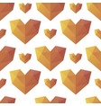 triangle heart seamless pattern background vector image vector image