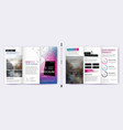 trifold business brochure template creative vector image