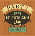 typographical design for st patricks day vector image