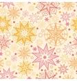 Warm stars seamless pattern background vector image