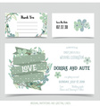 Wedding invitation card with romantic flower vector image
