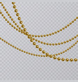 realistic golden pearl on transparent background vector image