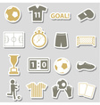 soccer football simple black stickers set eps10 vector image