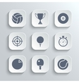 Sport icons set - white app buttons vector image