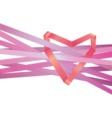 - Heart ribbon vector image