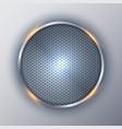 abstract elegant circle metallic round silver vector image vector image
