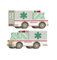 ambulance flat vector image vector image