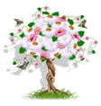 art flower tree vector image