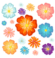 Big and small flowers vector image