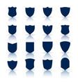 big set shield symbols and icons vector image vector image