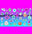 big set vaporwave styled colorful modern vector image vector image