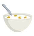 breakfast cereal bowl vector image