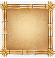 brown dry bamboo stick border on transparent vector image vector image