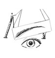 brows for beauty salon vector image