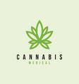 cannabis leaf logo design inspiration vector image vector image