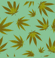 cannabis seamless pattern design - background vector image vector image