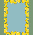 citrus frame lemons yellow and blue template vector image