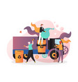 cleaning street concept for web banner vector image vector image