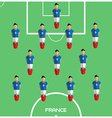 Computer game France Football club player vector image vector image