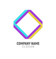 connection shape logo design vector image