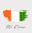 cote divoire watercolor national country flag vector image