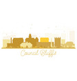 council bluffs skyline golden silhouette vector image vector image