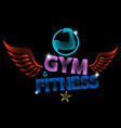 creative motivating banner for training in the gym vector image vector image