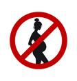 dangerous for pregnant women black female vector image
