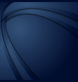 dark blue abstract wavy material background vector image vector image