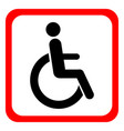 disabled wheelchair icon disable symbol logo vector image