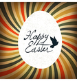 Easter card rays retro calligraphy