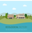 Ecological factory vector image vector image
