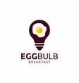 egg bulb logo design inspiration vector image vector image