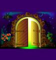 fairyland fantasy gate leading to light vector image
