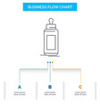 feeder bottle child baby milk business flow chart vector image