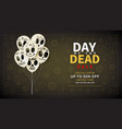 festive web banner of day of the dead sale vector image