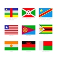 Flag icon set vector image