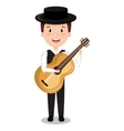 flamenco musician isolated icon design vector image