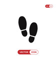 footsteps icon vector image vector image