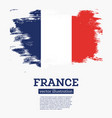 france flag with brush strokes vector image vector image