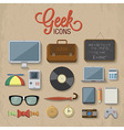 geek accessories vector image vector image