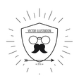 glasses and mustache icon Hipster Style design vector image vector image