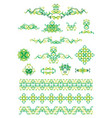 green ornament vector image vector image