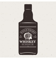 Hand drawn whiskey bottle with logo Typography vector image vector image