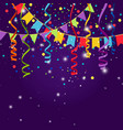 happy party or festive blue background vector image vector image