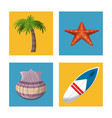 happy summer traveling template with beach summer vector image vector image