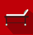 hospital bed icon frame design vector image vector image