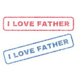 i love father textile stamps vector image vector image