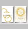 invitation template gold glitter in the shape of vector image